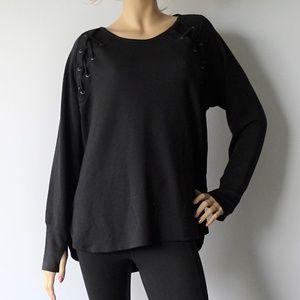 Ideology Active Black Long Sleeve T-Shirt NWT